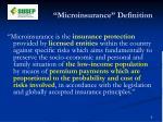 microinsurance definition