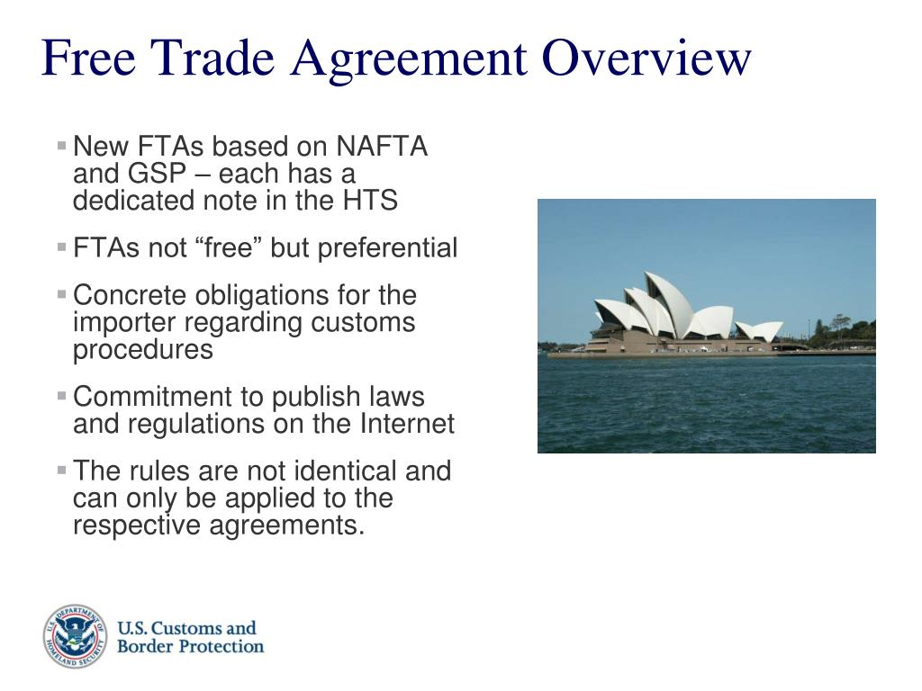 New FTAs based on NAFTA and GSP – each has a dedicated note in the HTS