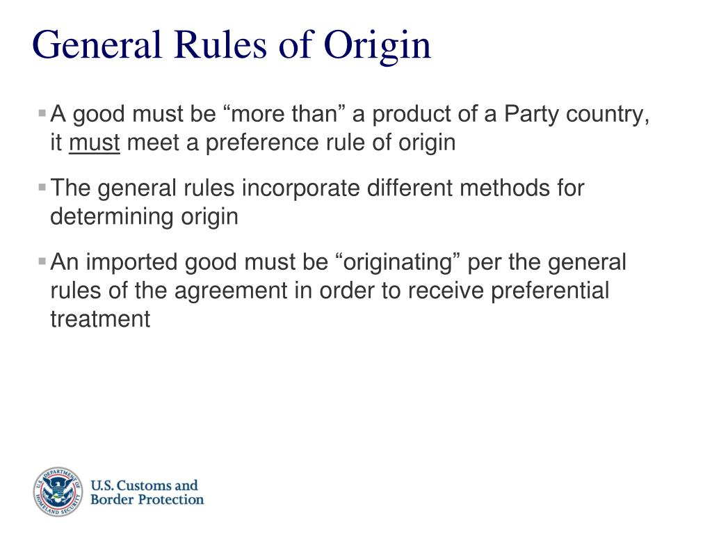 """A good must be """"more than"""" a product of a Party country, it"""