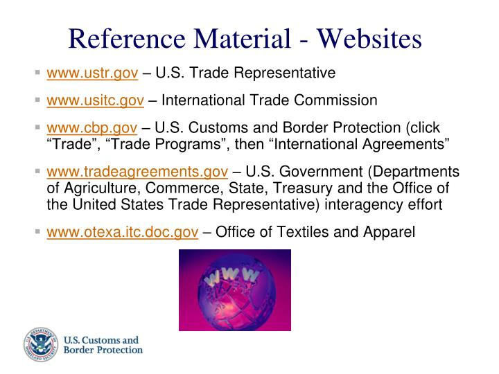 Reference material websites