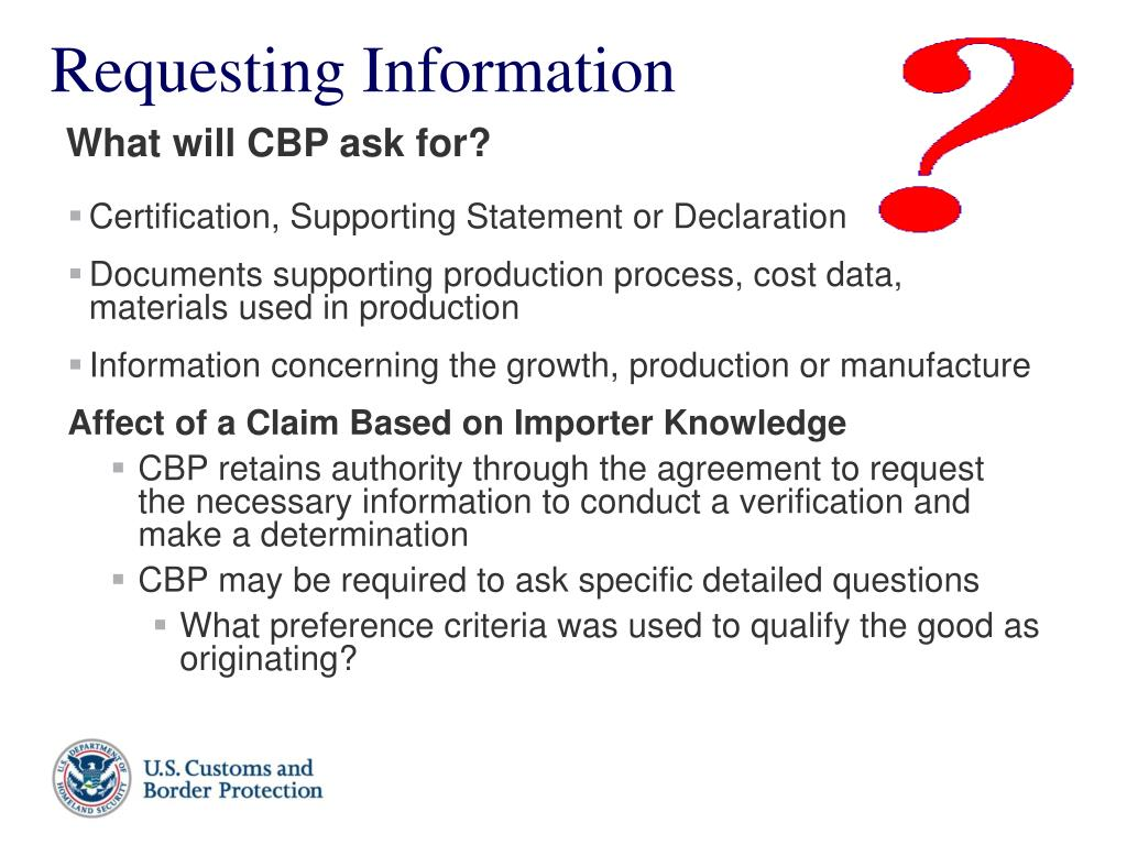 Certification, Supporting Statement or Declaration