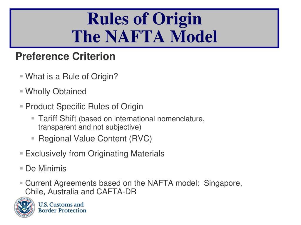 What is a Rule of Origin?
