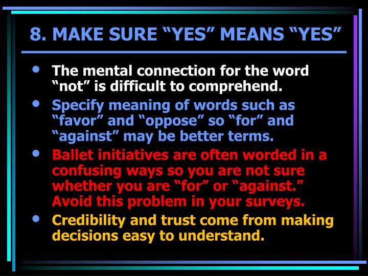 "The mental connection for the word ""not"" is difficult to comprehend."