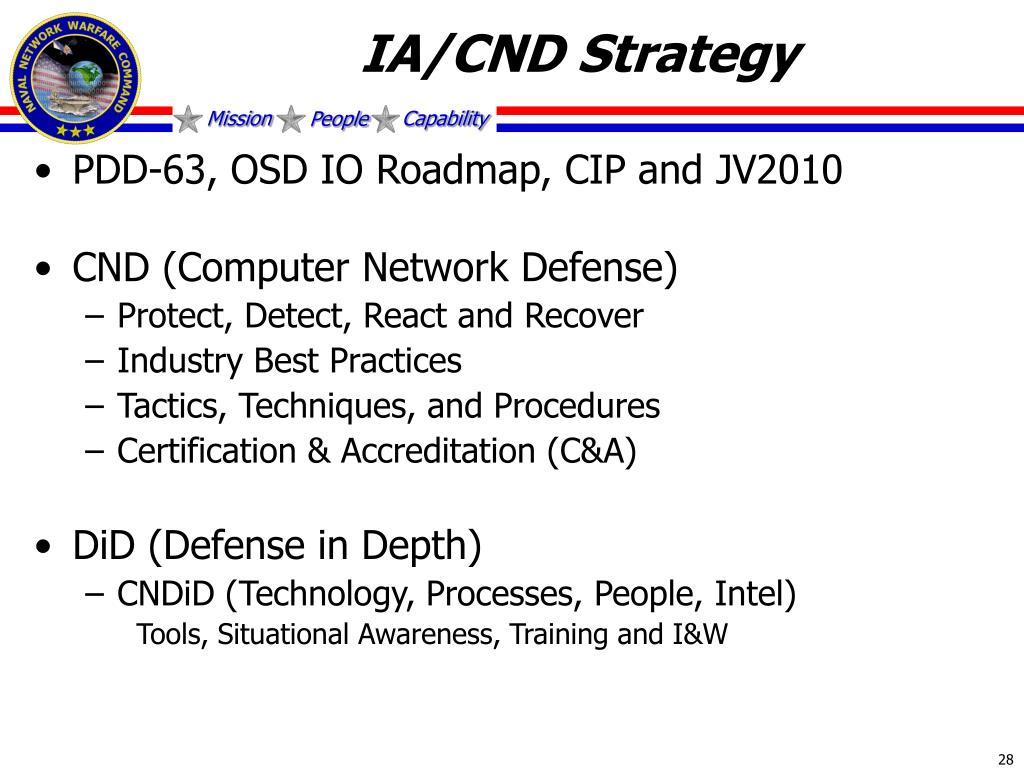 IA/CND Strategy