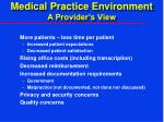 medical practice environment a provider s view