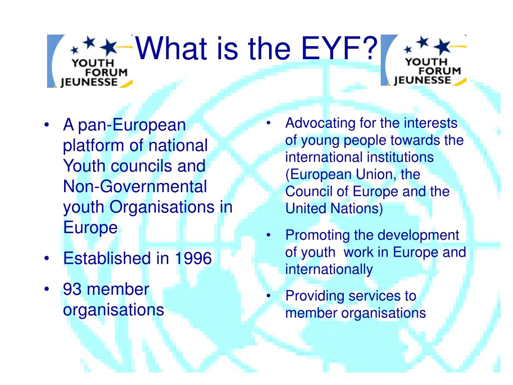 A pan-European platform of national Youth councils and Non-Governmental youth Organisations in Europe