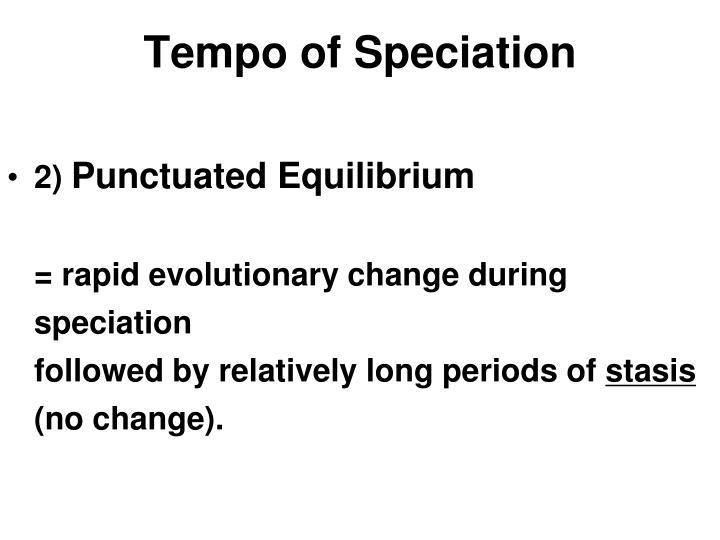 Tempo of Speciation