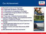 our achievement