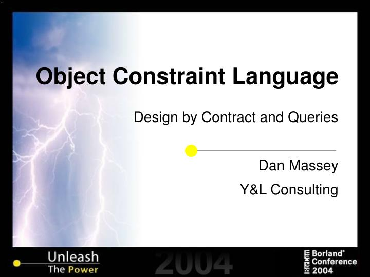 object constraint language n.
