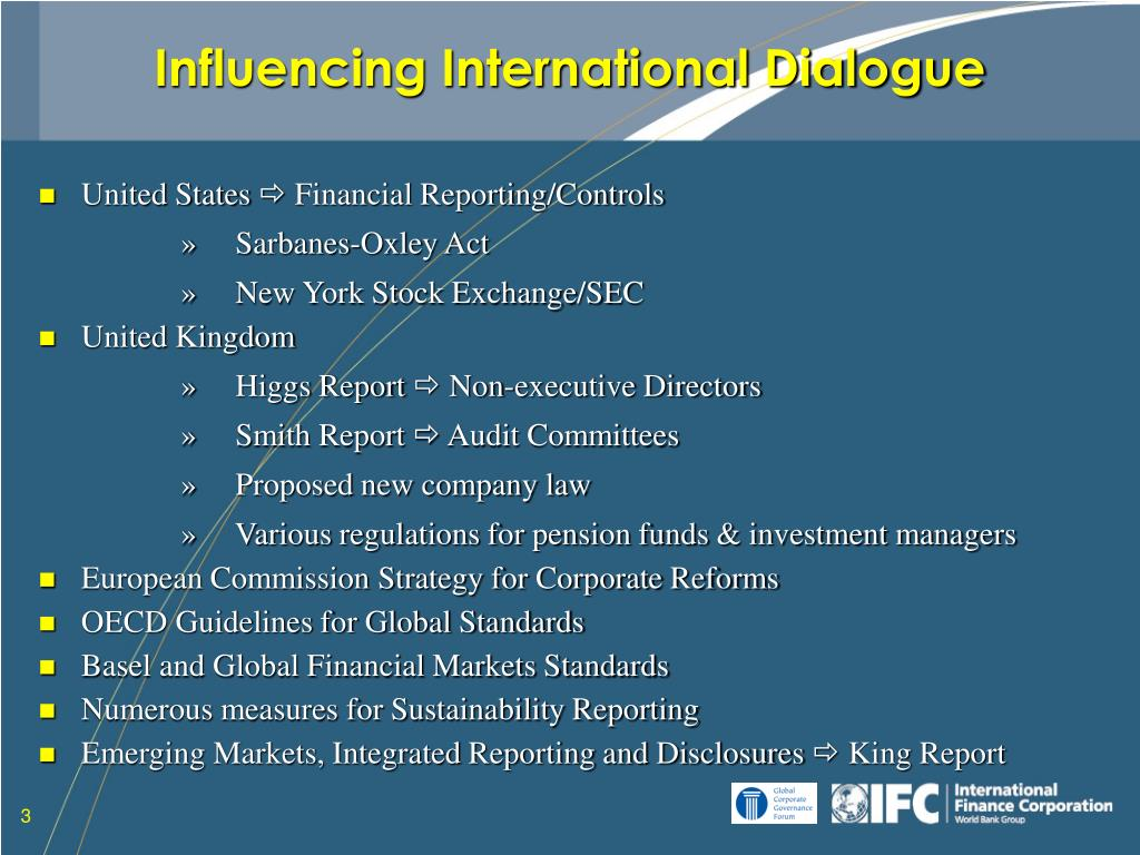 Influencing International Dialogue