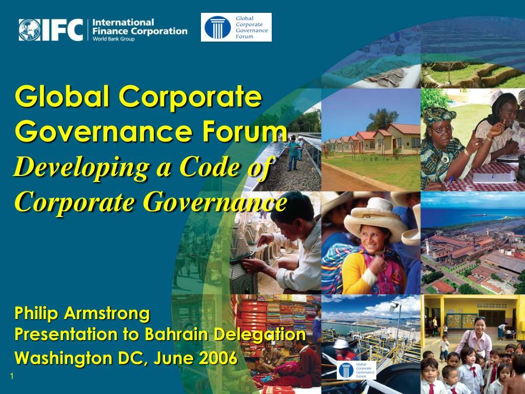 Global Corporate Governance Forum