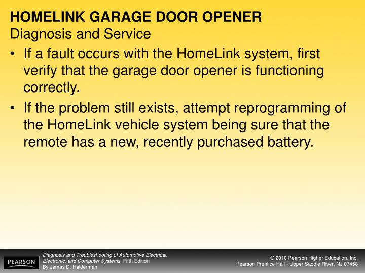 HOMELINK GARAGE DOOR OPENER