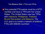 the bilateral web ftas and tifas
