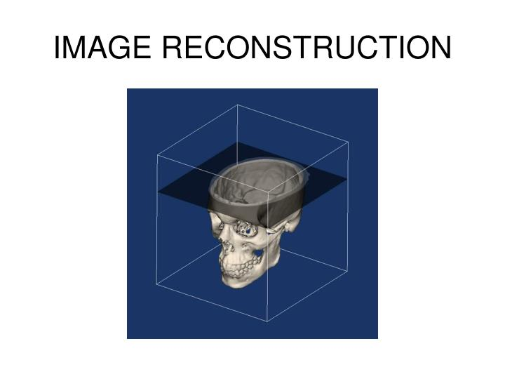 image reconstruction n.