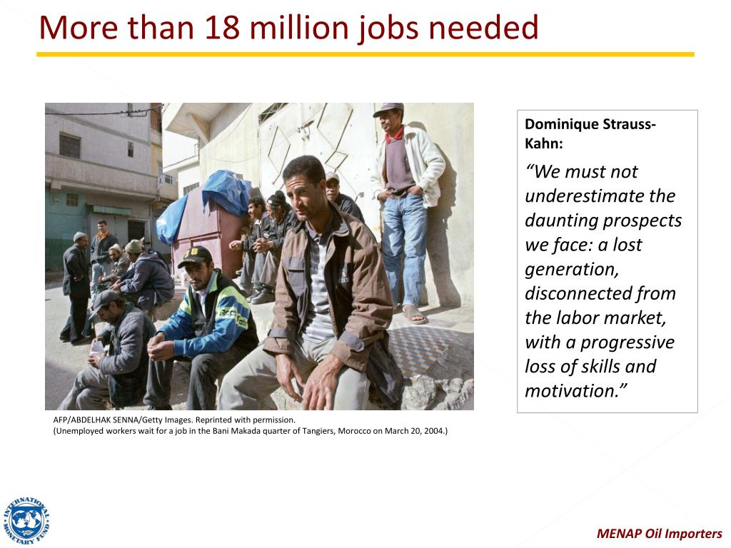 More than 18 million jobs needed
