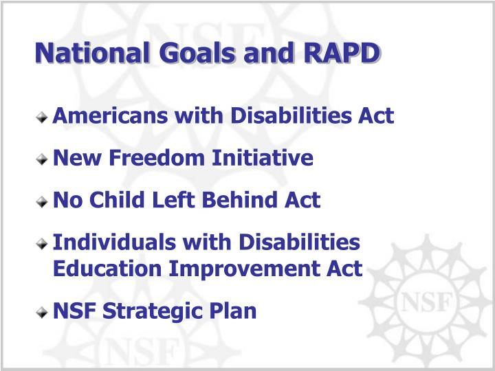 the purpose and goals of the no child left behind act The no child left behind act the no child left at the heart of the no child left behind act role to play in attaining these goals and.