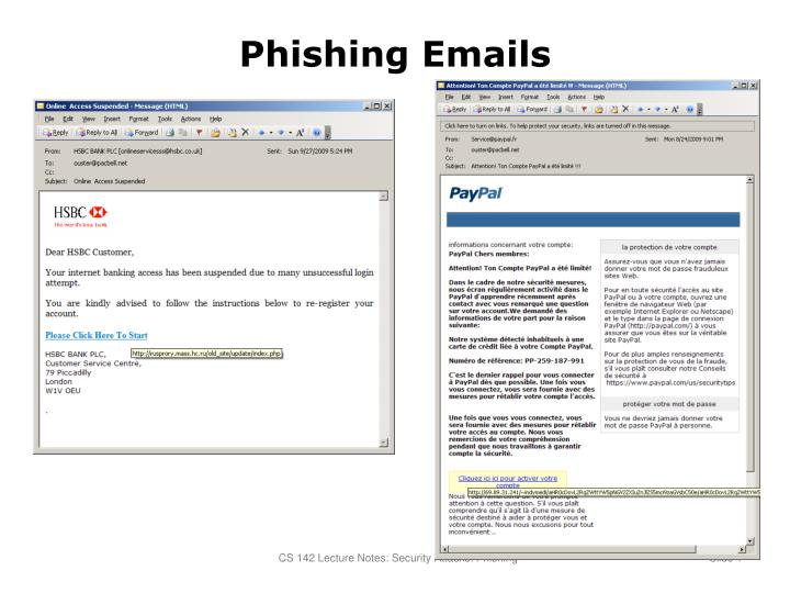 phishing emails n.