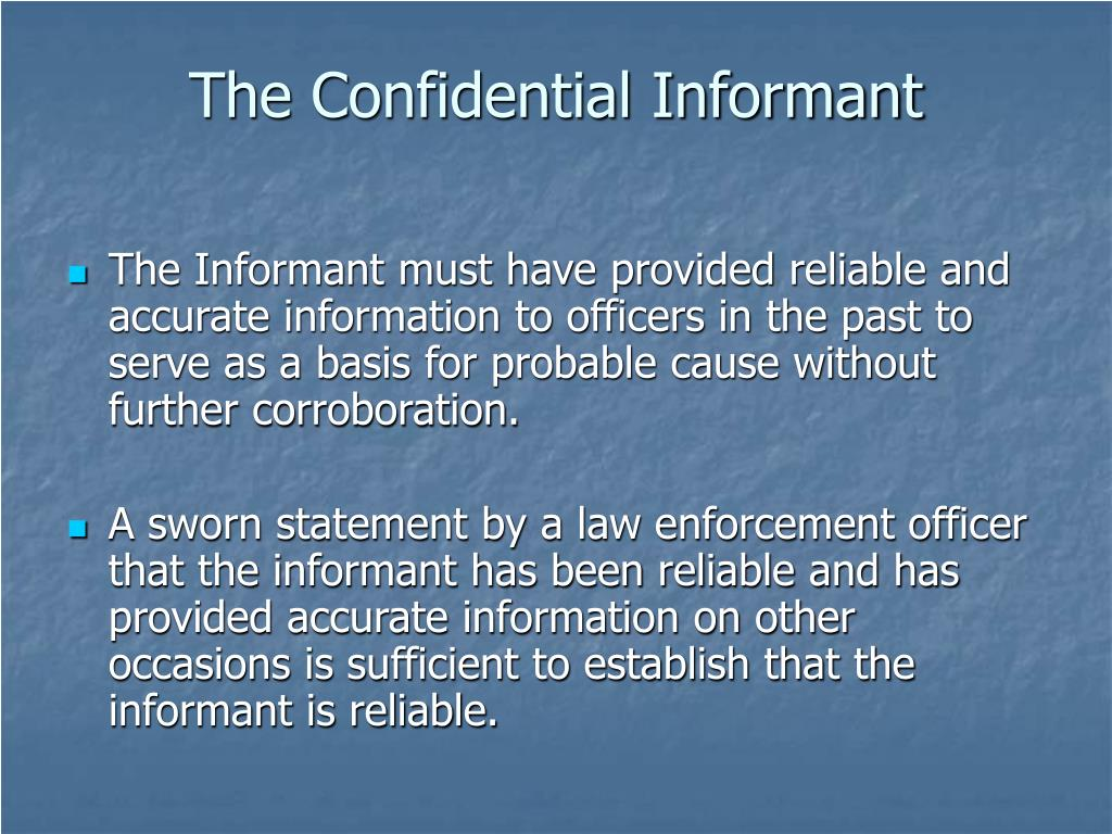 PPT - Confidential Informants PowerPoint Presentation - ID
