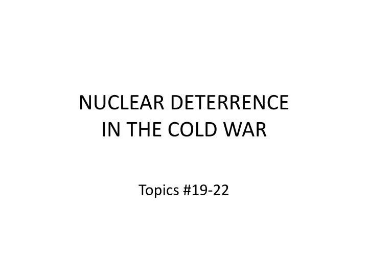 nuclear deterrence in the cold war n.