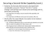 securing a second strike capability cont3