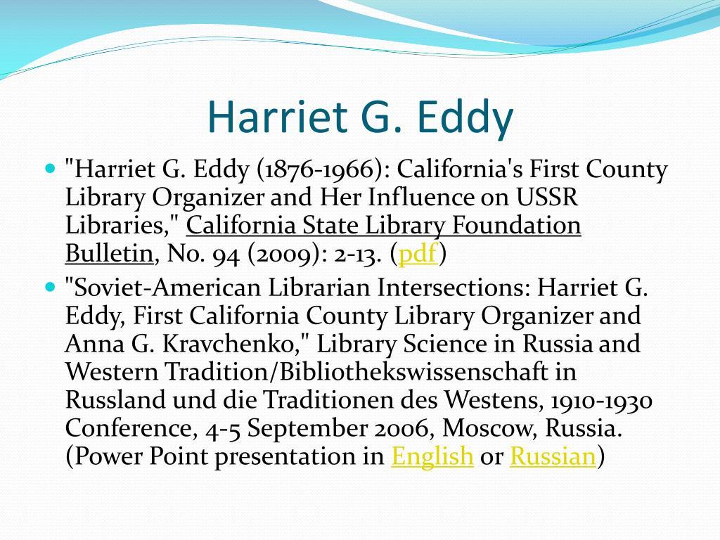 Harriet G. Eddy