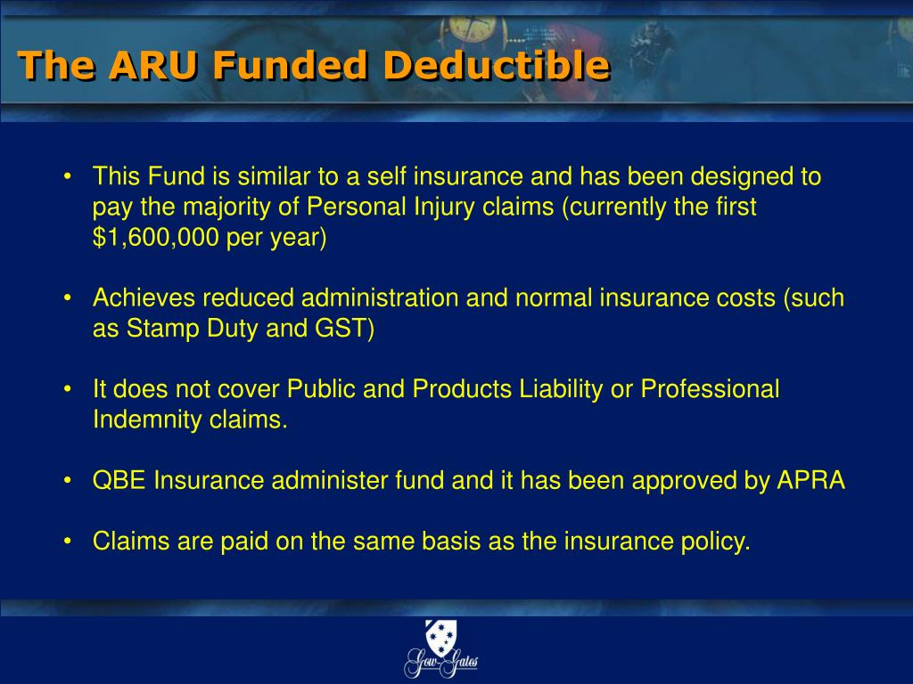 The ARU Funded Deductible