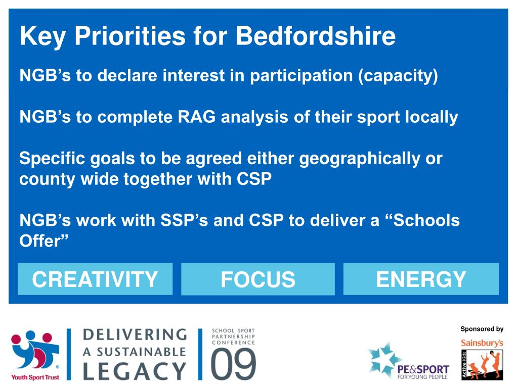 Key Priorities for Bedfordshire