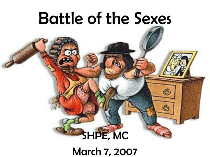 battle of the sexes n.