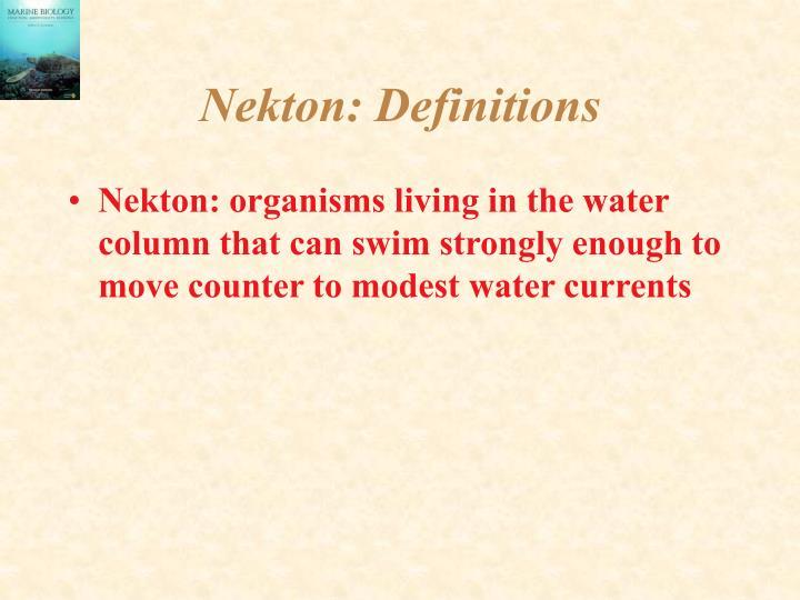 Nekton definitions