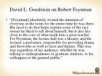 david l goodstein on robert feynman