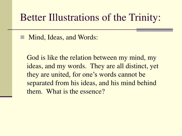 Better Illustrations of the Trinity: