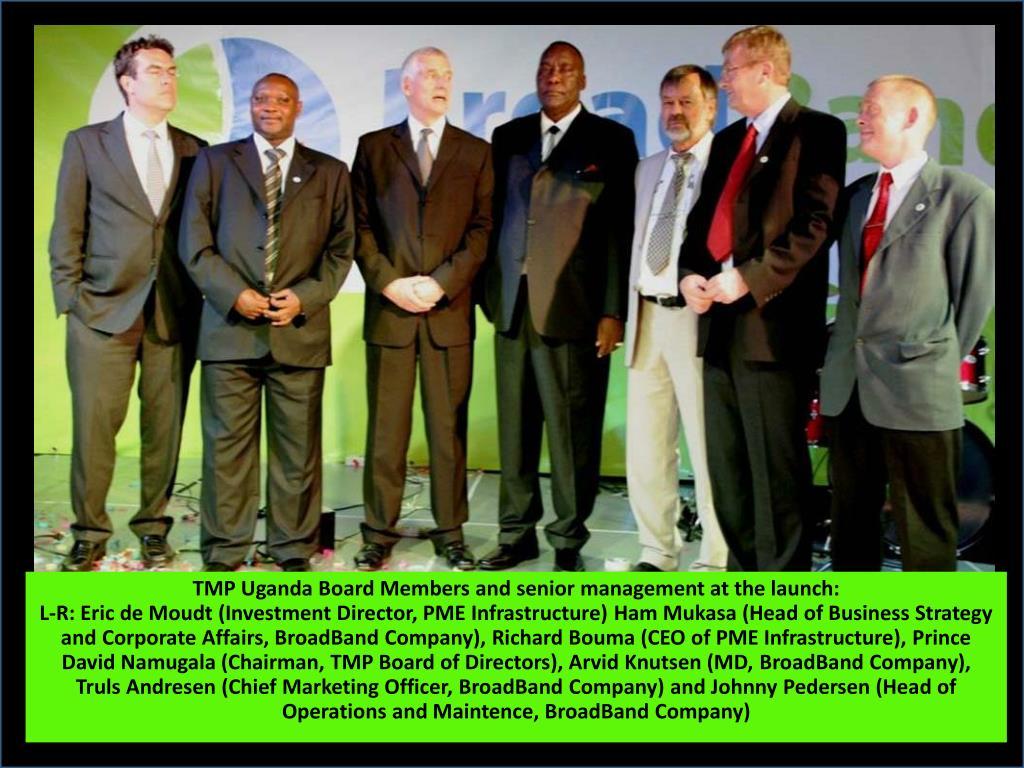 TMP Uganda Board Members and senior management at the launch: