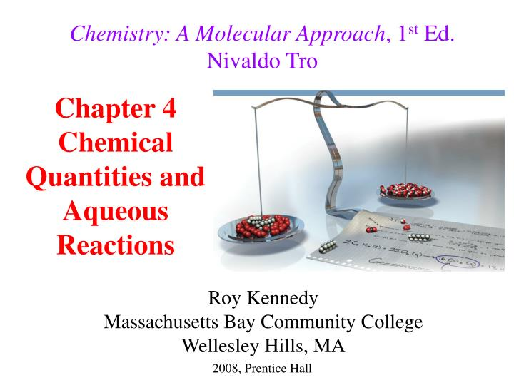 chapter 4 chemical quantities and aqueous reactions n.