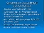conservation district beaver control program