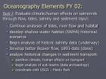 oceanography elements fy 02