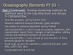 oceanography elements fy 0320