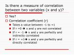 is there a measure of correlation between two variables x and y