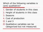which of the following variables is are qualitative