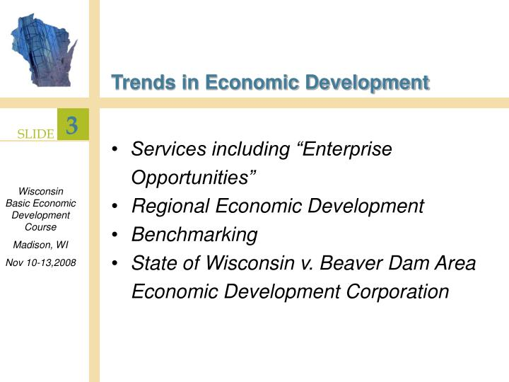Trends in economic development