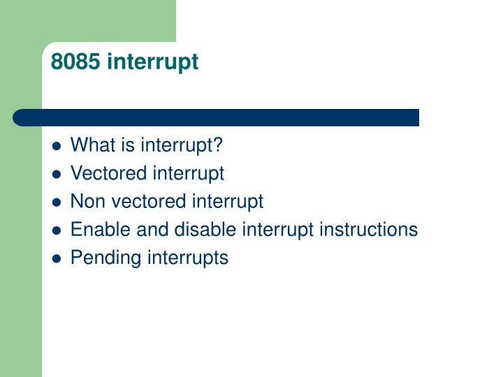 8085 interrupt