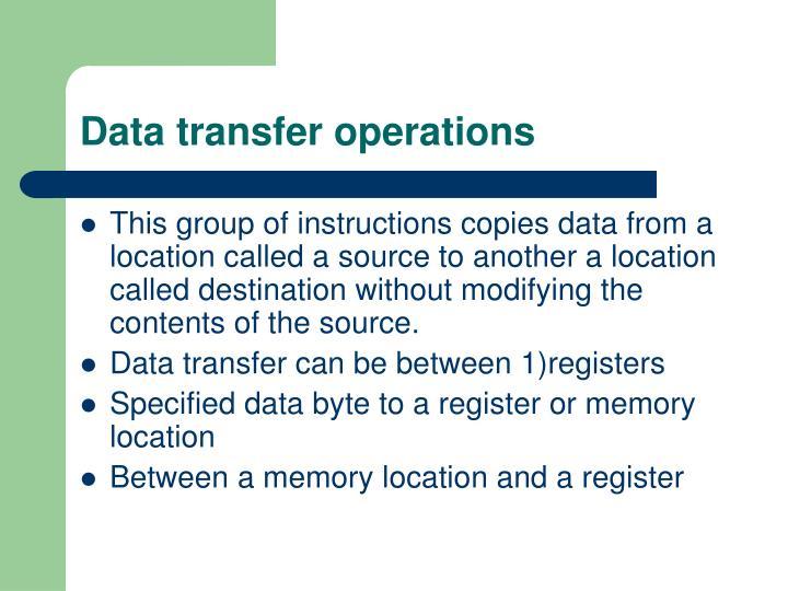 Data transfer operations