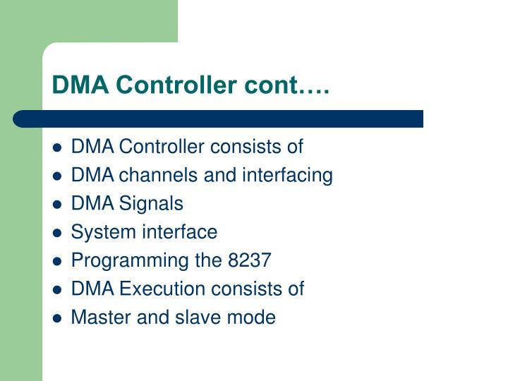 DMA Controller cont….