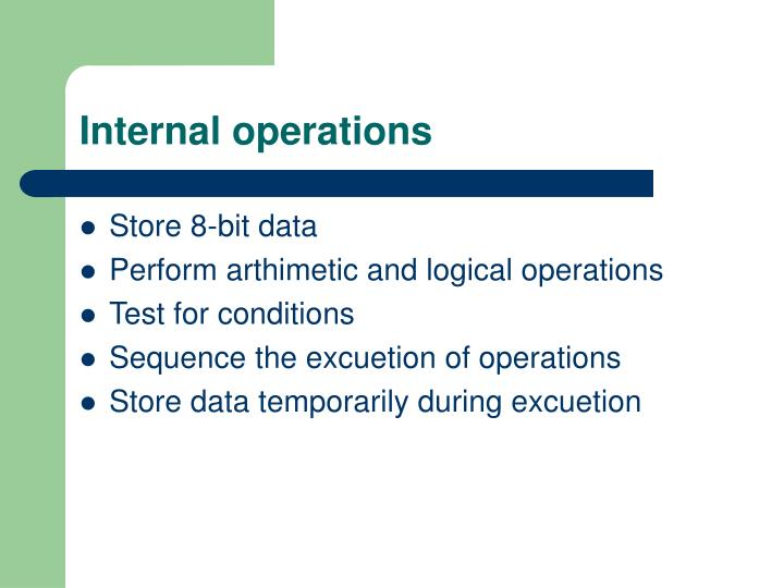 Internal operations
