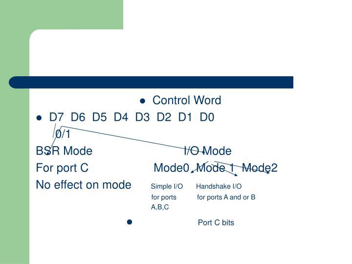 Control Word
