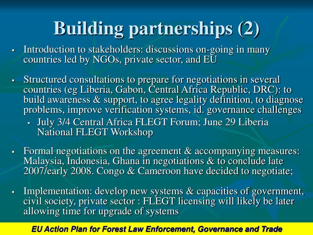 Building partnerships (2)