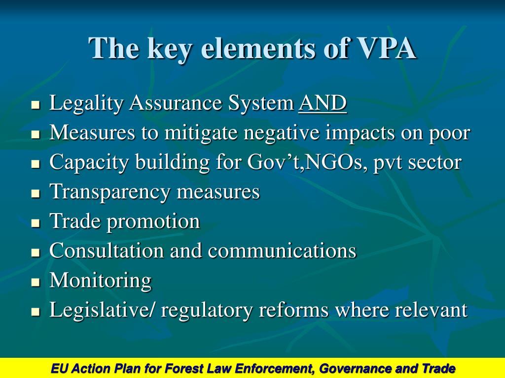 The key elements of VPA