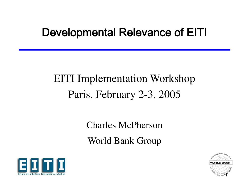 developmental relevance of eiti l.