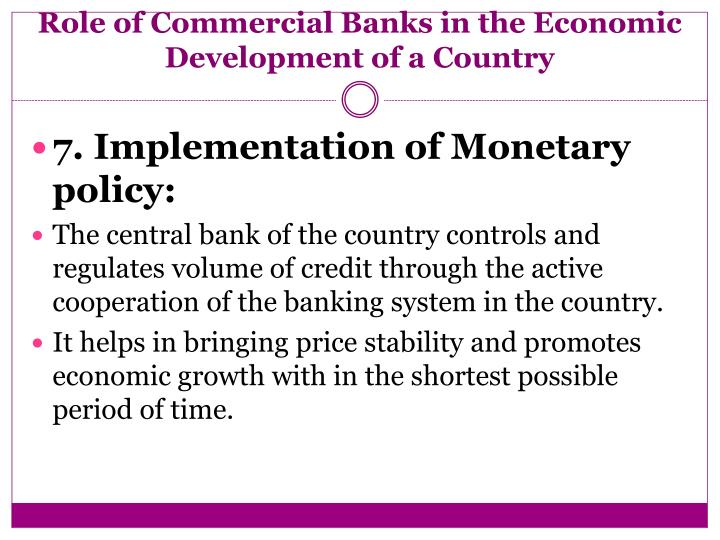 PPT - ROLE OF COMMERCIAL BANKS IN THE ECONOMIC DEVELOPMENT ...