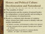 history and political culture decolonization and nationhood