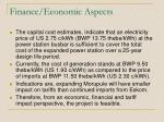 finance economic aspects